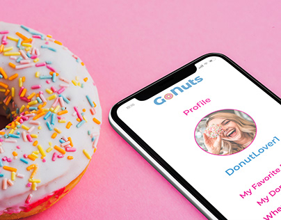 GoNuts Donut Shop Locator Mobile App