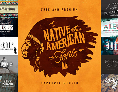 Native American Fonts Collection