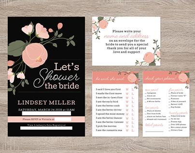 Bridal Shower Invites/Games