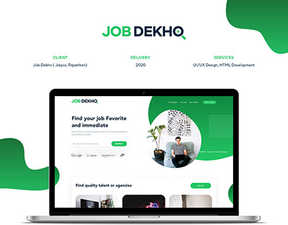 JOB DEKHO :: Website Design - Job website UI/UX