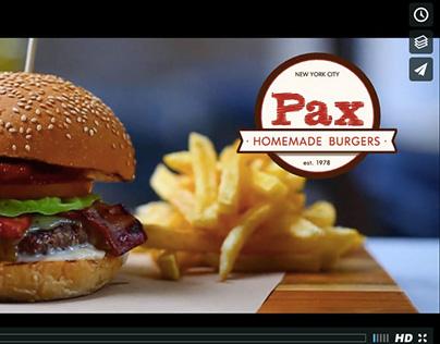 pax new york burgers promo video