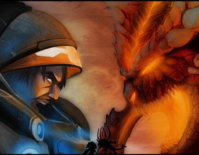 Raynor vs Diablo. HoTS fanart contest