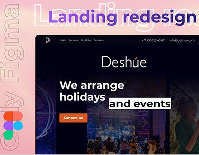 Deshue.com redesign