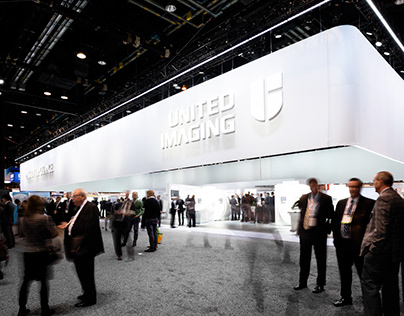 RSNA booth designed by HALLUCINATE for United Imaging