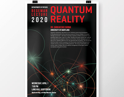 Department of Physics Begeman Lecture poster