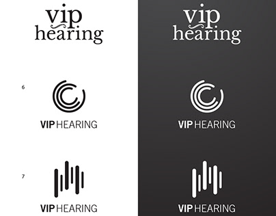 Logo and Marketing Materials for VIP Hearing Brands
