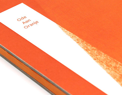 Book Design - Ode aan Oranje