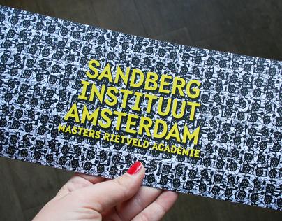 Sandberg Instituut Open Day 2013 | posters design