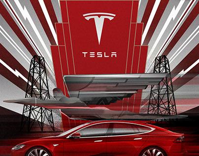 Tesla Ar deco