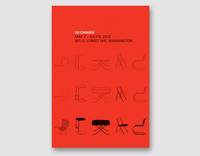 28 Chairs | Poster
