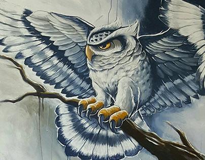 Owl Mascot Painting