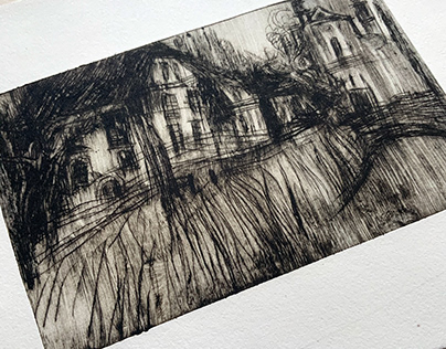 Etchings of Fog and Streets