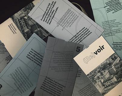 Mémoire (Re)voir la ville -graphic design thesis