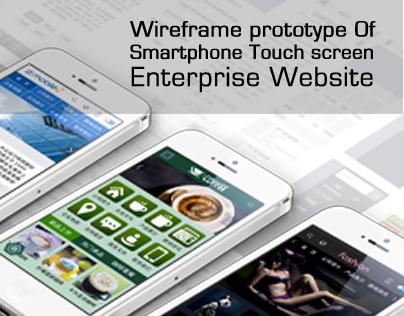 Wireframe prototype Of Mobile Website