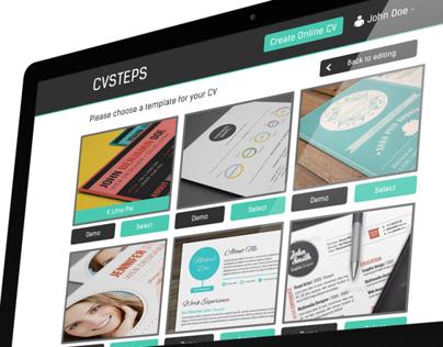 CVSteps UX/UI Redesign