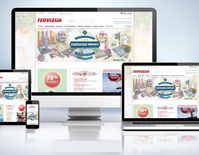 Teovizija - Online Bookstore design&graphic (2011.)