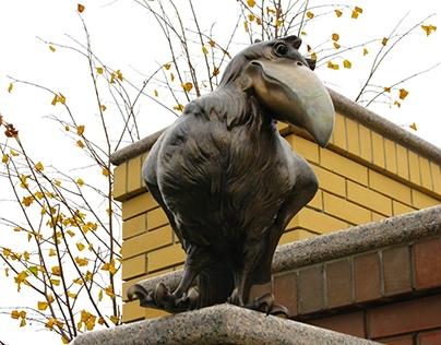 Birds: Crow, Hawk chick, bronze, 2011