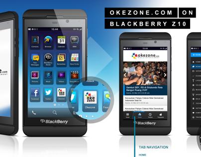 Blackberry Z10 Okezone.com App