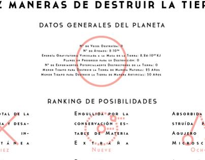 10 Maneras de Destruir la Tierra Infographics