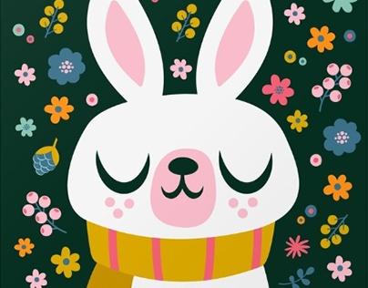 Bunny Vector Illustration