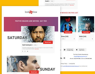 Email Newsletter | Book my show