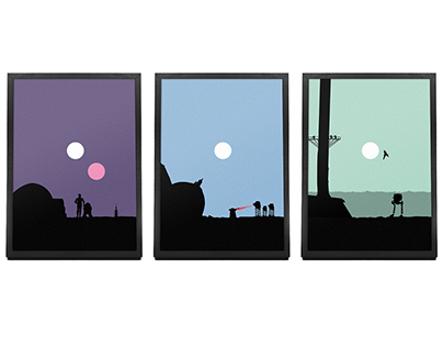 Star Wars Minimalist Landscapes
