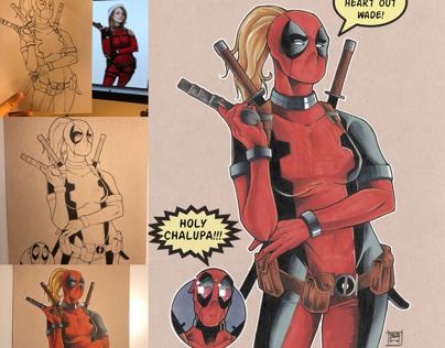 Illustration Process for Lady Deadpool