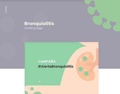 Bronquiolitis landing - ui design