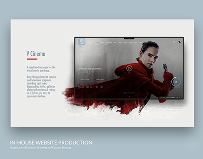 Vcinema Website Design. UX/UI