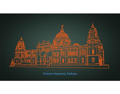 Stroke Animation - Victoria Memorial, Kolkata