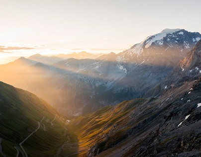 Sunrise at Ortler Mountains