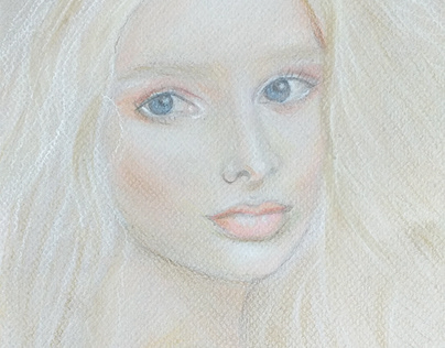 Retrato em giz pastel