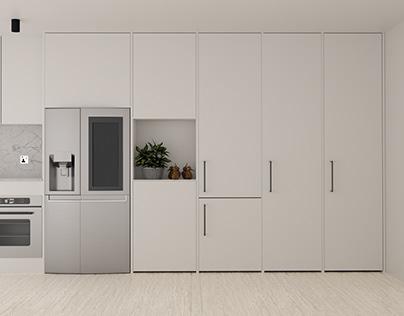 Archviz product renders:Refrigerator 3D Asset