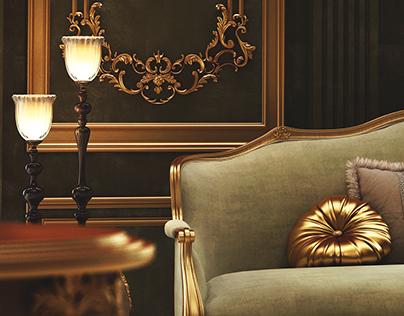 Claissc Royal bedroom .