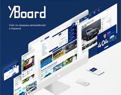 Website design for car sale