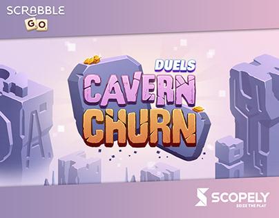 Duels Cavern Churn art for Scrabble® GO game