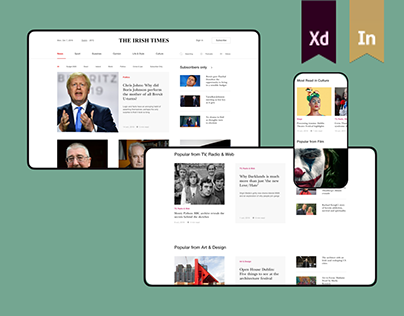 The Irish Times — News portal redesign concept