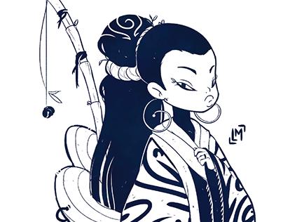 Criação de Personagem - Princesa Asiática