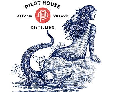 Pilot House Distillery Illustrations by Steven Noble