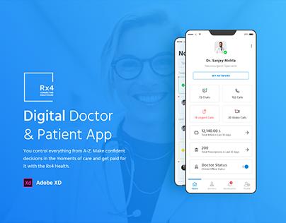 Digital Doctor & Patient App - UX/UI Design Case Study