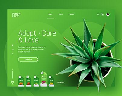 UI/UX design for Plante Luv - Adopt a plant