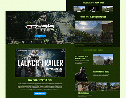Crysis Remaster - Website Remake