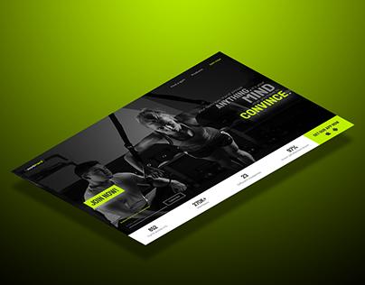 Gym website concept (2018)