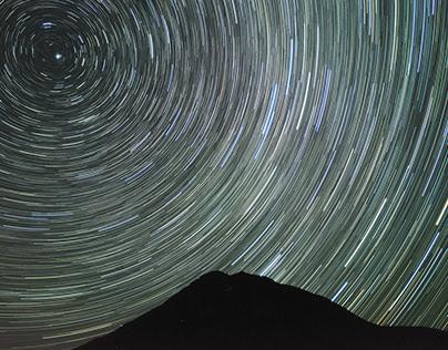 Starry sky photograph (Hokkaido, Japan)