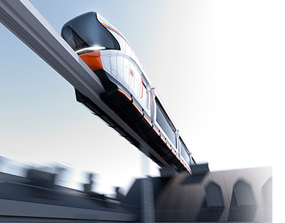 Monorail train for rescuers.