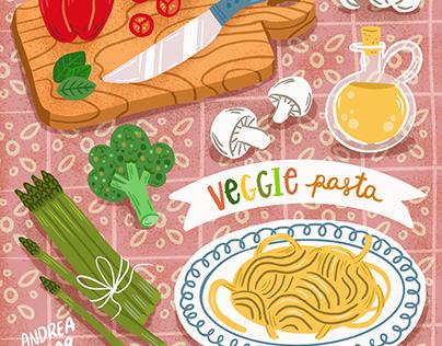 Food illustration for recipe
