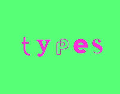 Types & Logotypes | 2018