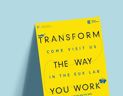 Poster design, EUX Lab at RBC