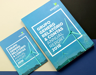 Editorial design of the 2016 Generg Annual Reports