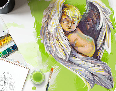 Angel illustration